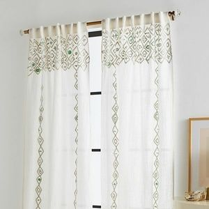 "Anthropologie Pippette Curtain new 50""w x 84 """